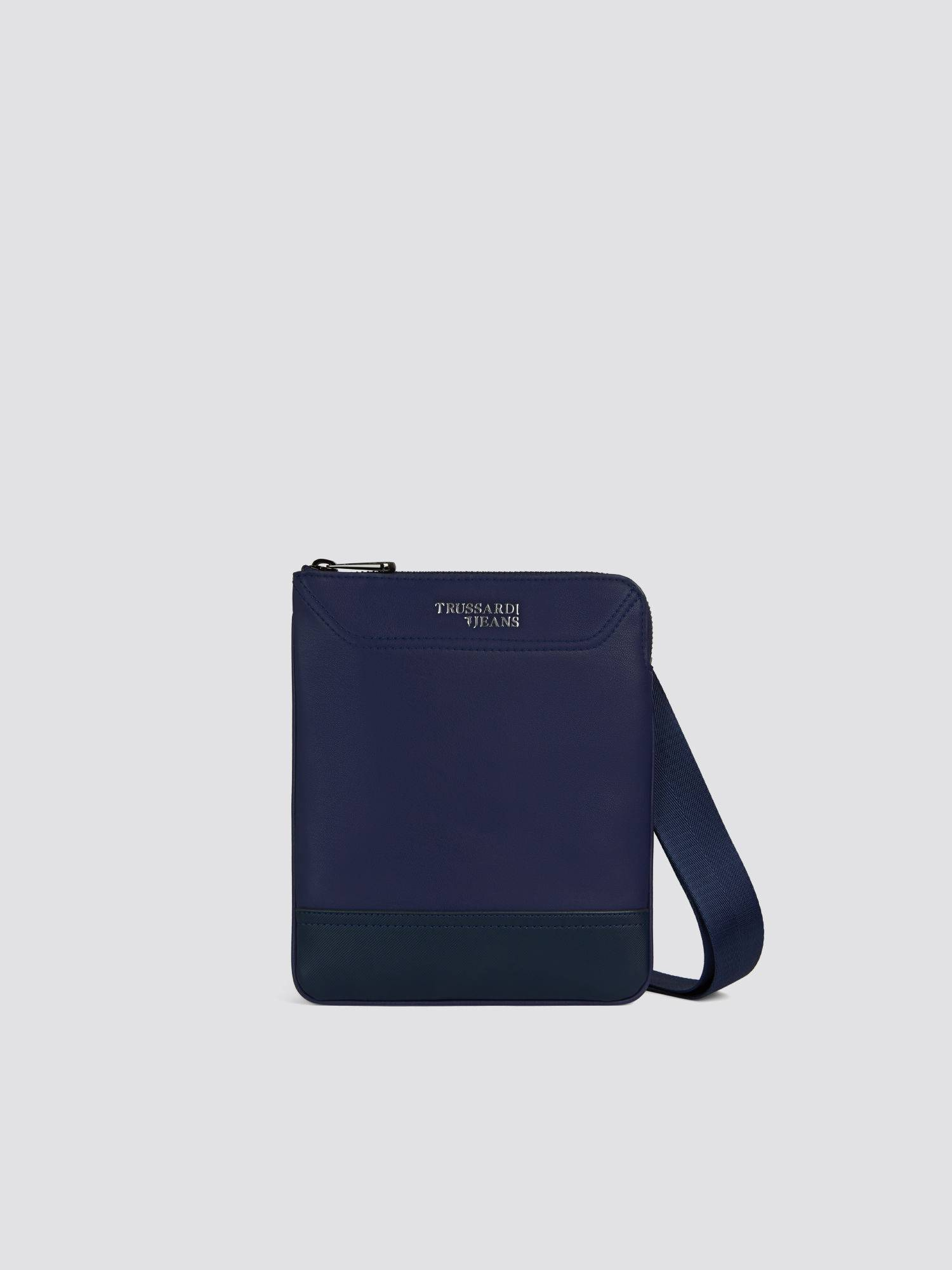 Borsa Business small flat in similpelle con spallacci