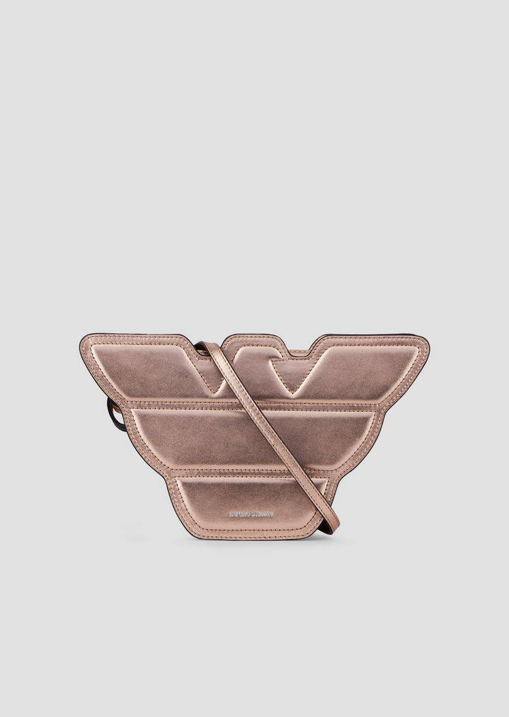 Borsa small a forma d'aquila in pelle metal