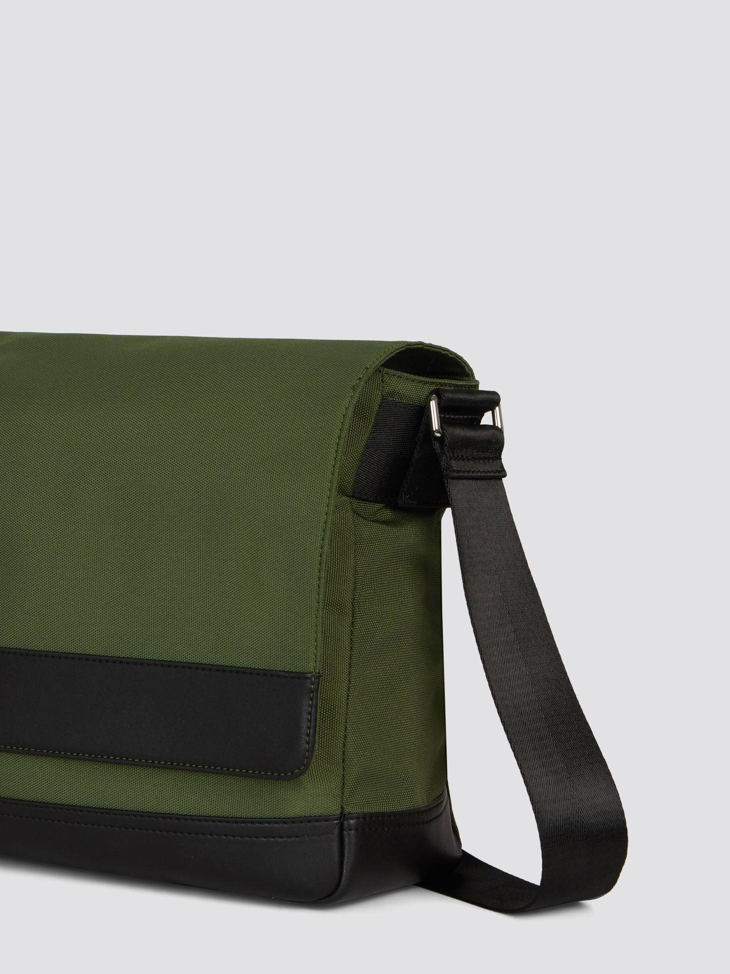 Borsa Ticinese Messanger large in cordura e similpelle