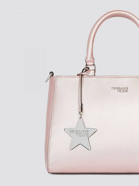 T-Easy Star a mano medium in similpelle charm e manico