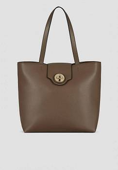 Shopper in PVC con chiusura buckle a scatto