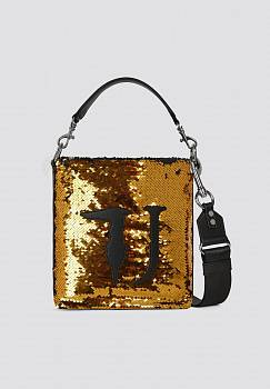 Borsa a secchiello T-Wow Night small con paillettes