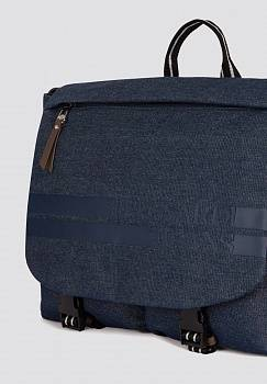 Borsa Turati Business in denim e similpelle