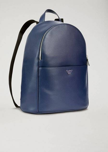 Backpack in pelle stampata palmellata