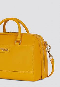 Bauletto T-Easy light midi con stampa saffiano e logo