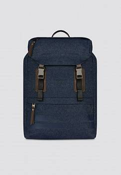Zaino Turati medium in denim e similpelle