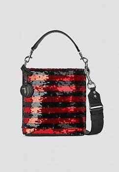 Borsa secchiello T-Wow a righe night e paillettes