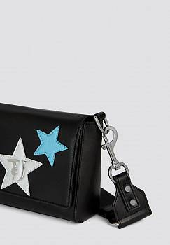 Mini borsa T-Easy cacciatora in similpelle e stelle
