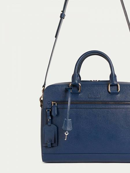 Borsa Business medium in pelle stampata saffiano